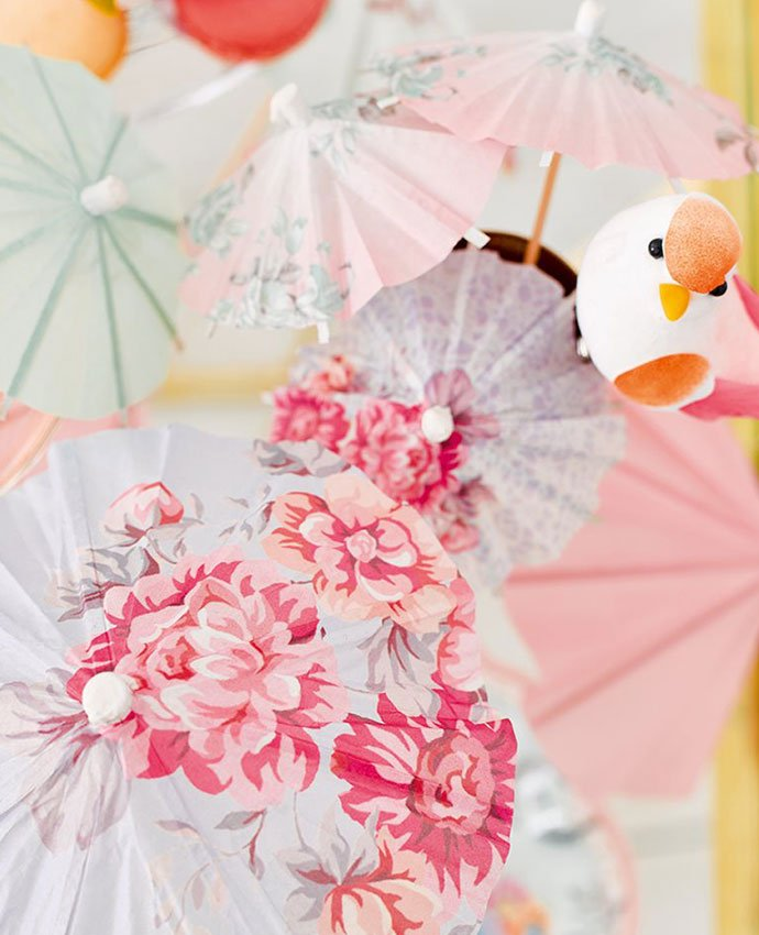 Floral Cocktail Umbrellas