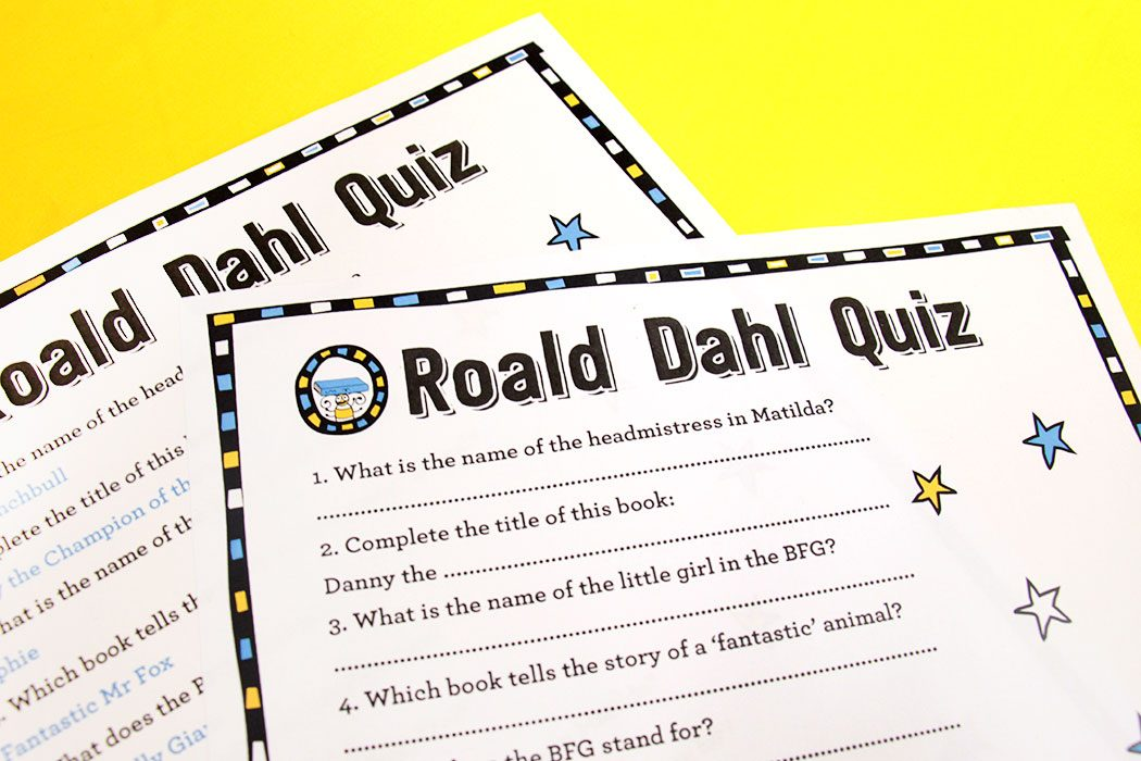 photo about Halloween Trivia Questions and Answers Free Printable named Absolutely free Printable Roald Dahl Quiz Occasion Delights Weblog