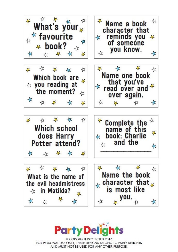 Printable World Book Day Game