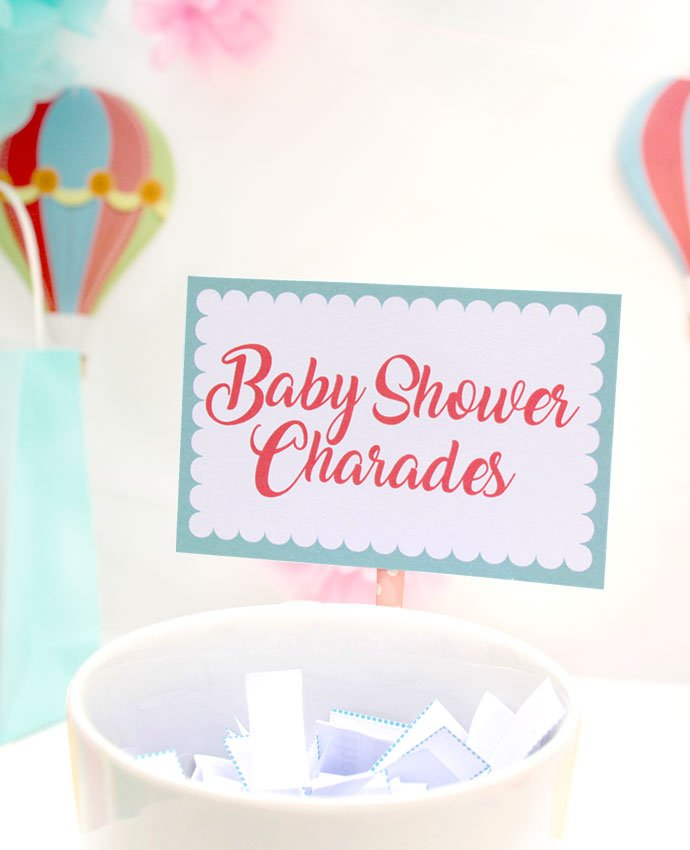 Free Printable Baby Shower Charades Game