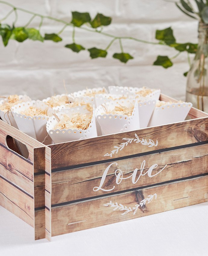 Cardboard Crate for Confetti