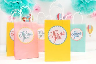 DIY Baby Shower Favour Bags