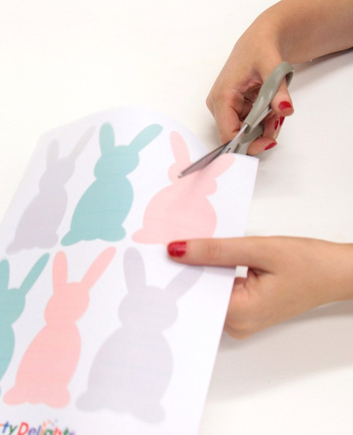 DIY Easter Bunny Bunting - Step 1