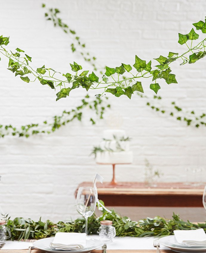 Decorative Vines for a Botanical Wedding Theme