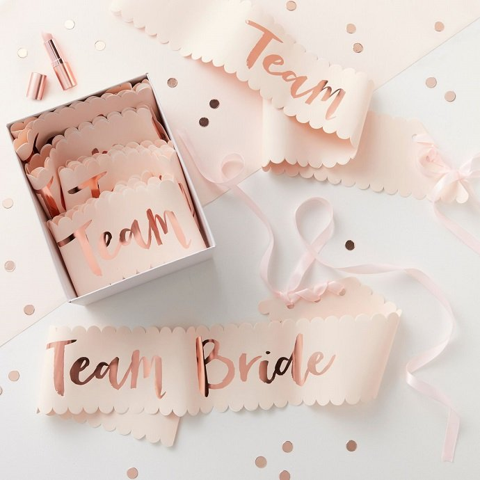 Team Bride Sashes