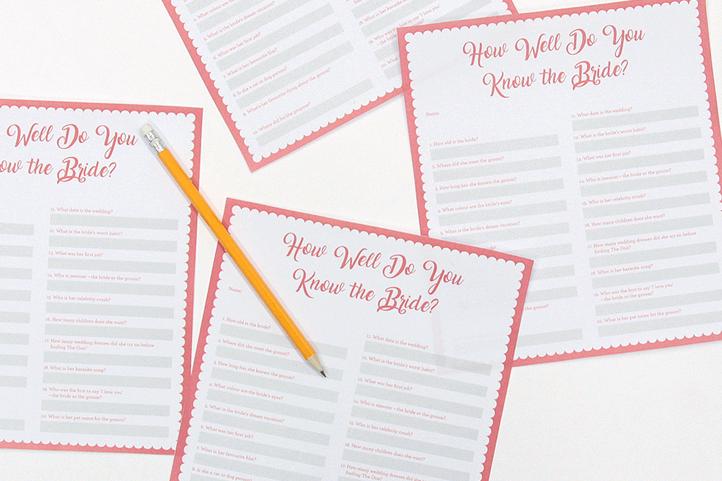 photo regarding Free Printable Bridal Shower Games How Well Do You Know the Bride identified as Printable Bird Do Sport - How Perfectly Do Your self Realize the Bride