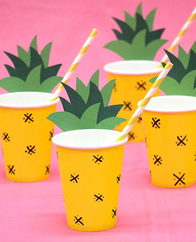 DIY Pineapple Cups