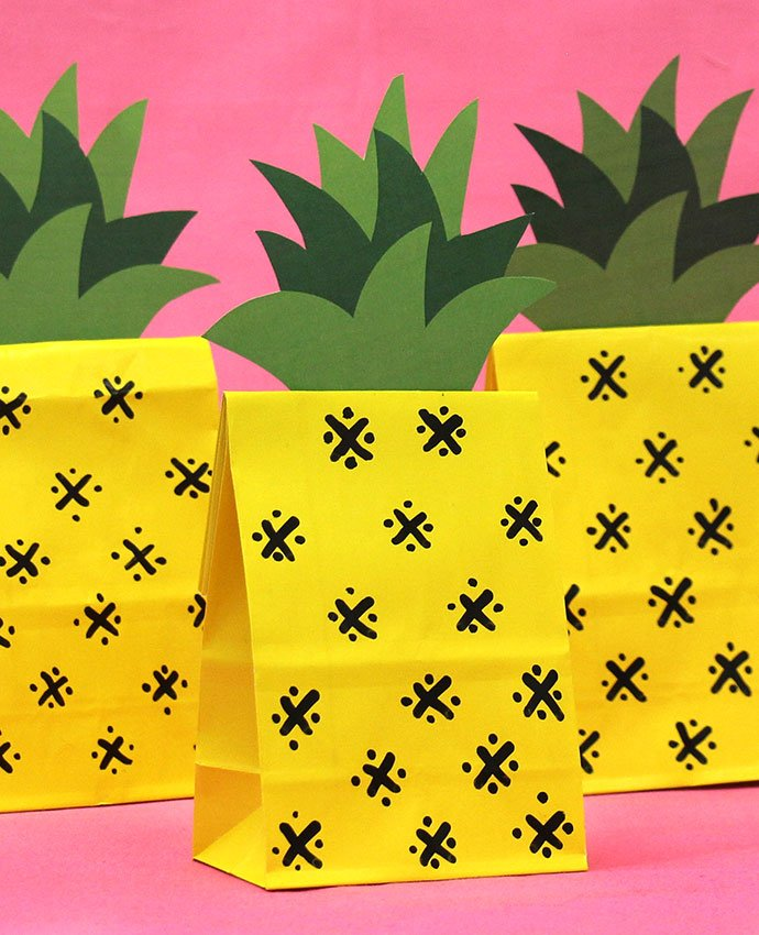 DIY Pineapple Party Bags