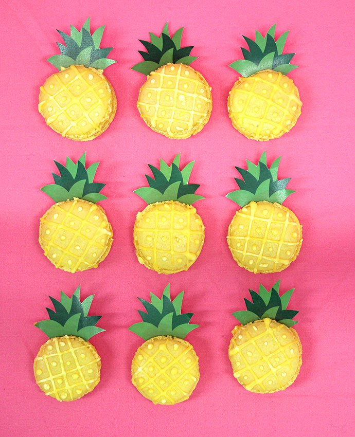 Pineapple Macaroons