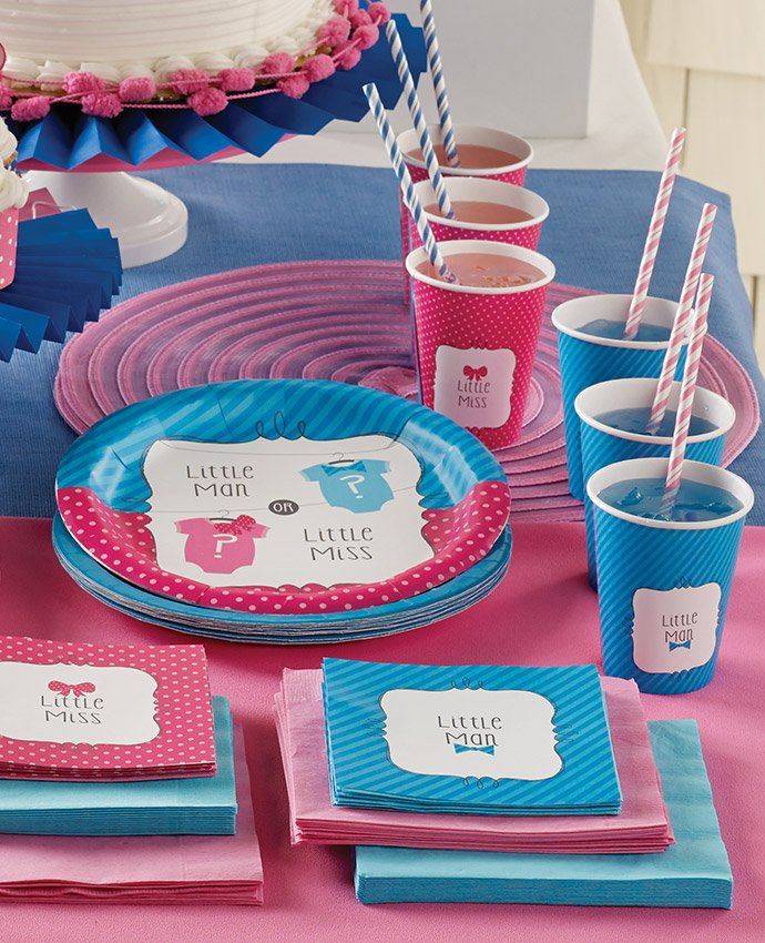 Bow or Bow Tie Gender Reveal Party Supplies