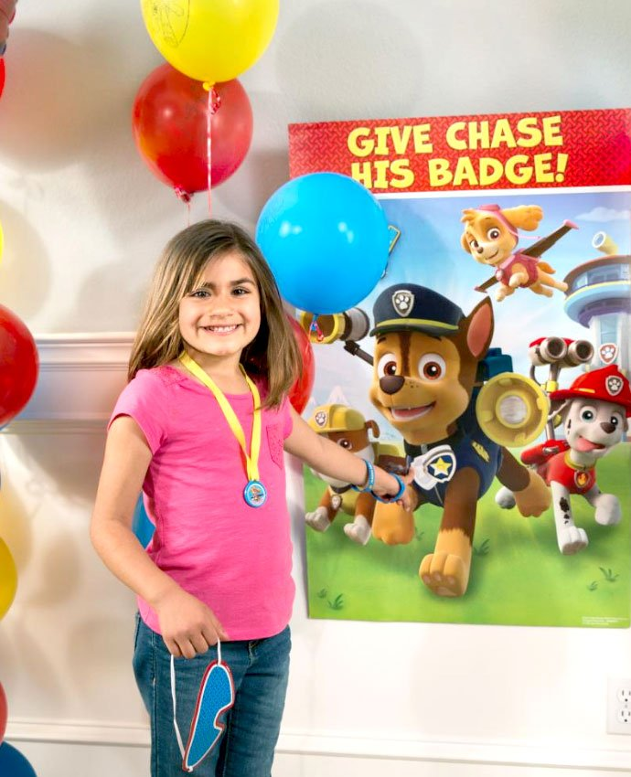 Paw Patrol Game - Pin the Badge on Chase