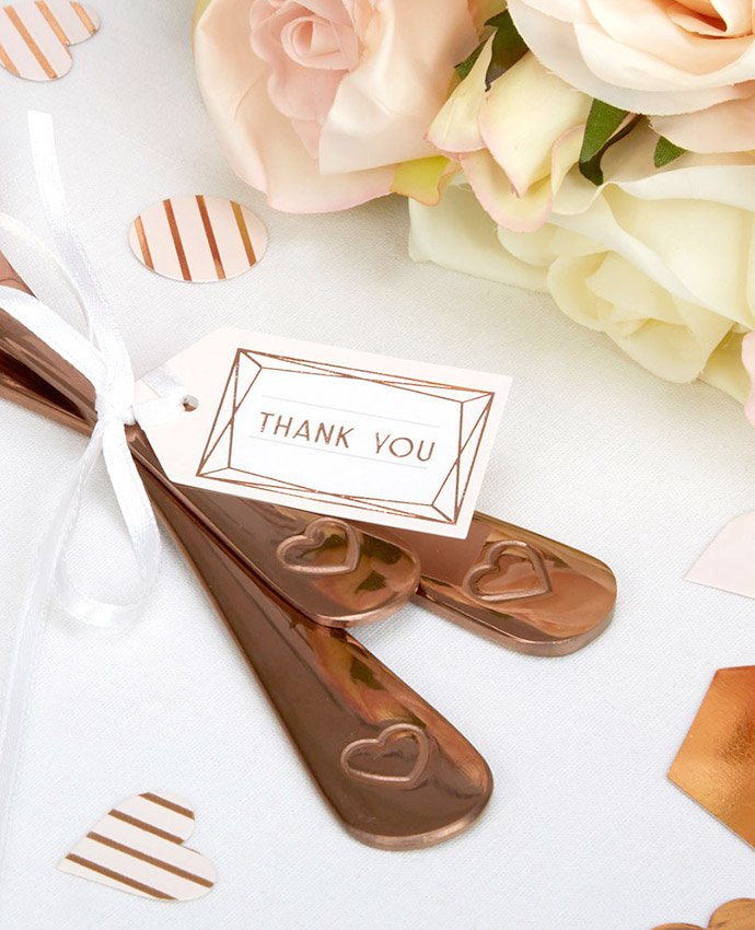 Rose Gold Geometric Thank You Tags
