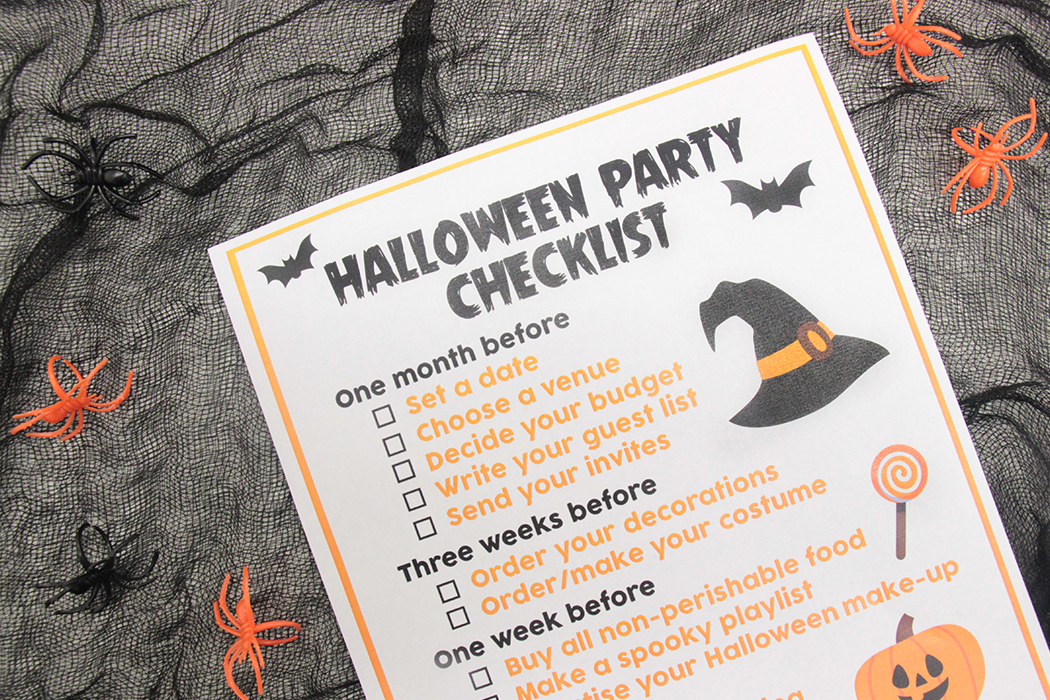 Free Printable Halloween Party Checklist