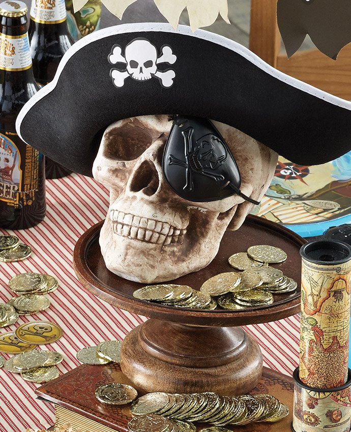 Pirate Skull Centrepiece