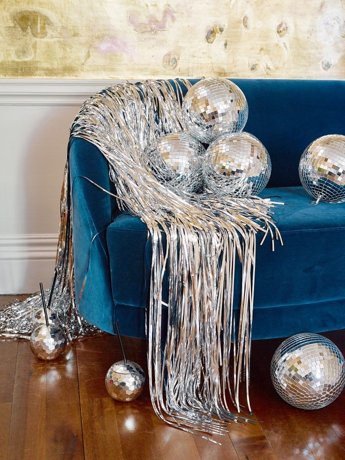 New Years Eve Party Ideas | Disco Ball NYE Party Accessories | Our complete list of New Years Eve party ideas from decorations to healthy New Years Eve Recipe! We have rounded up a complete list of everything you need to host the ultimate new years eve party! The perfect party New Year's Eve celebration with your friends or family! #nye #newyears #newyearseve #newyearsevedecor #nyedecor #decoration #decorideas #partyideas #celebration #partynewyears #newyearsrecipes #nyerecipes