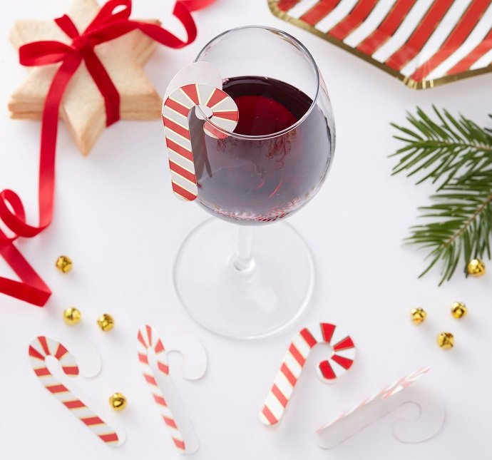 Candy Cane Glass Decorations