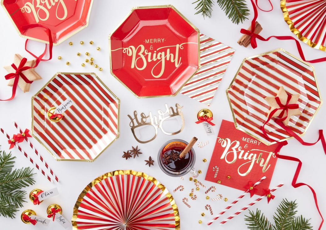 Christmas Party Ideas.Red Gold Christmas Party Ideas Party Delights Blog