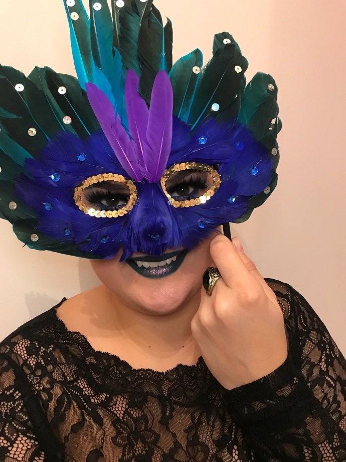 Feather Masquerade Mask