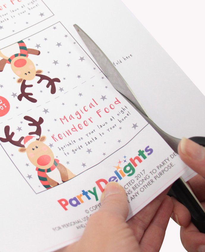 Free Printable Reindeer Food Labels