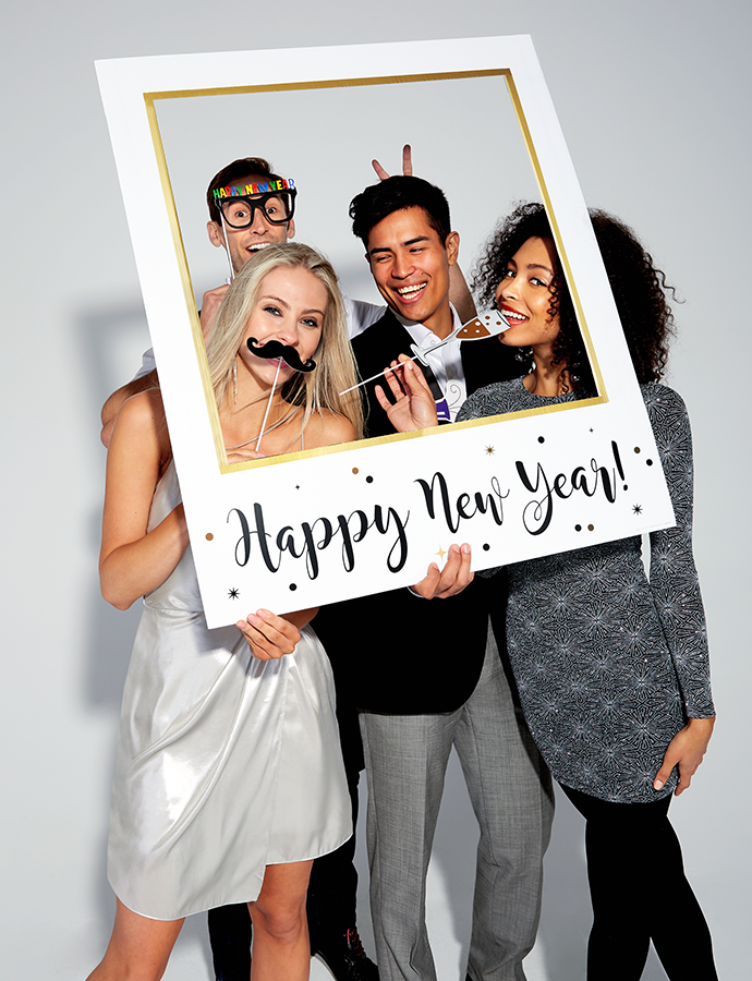 Happy New Year Photo Booth Frame