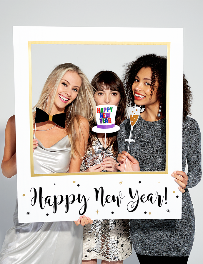 New Years Eve Photo Prop Frame Party Delights Blog