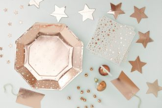 Rose Gold Christmas Party Ideas