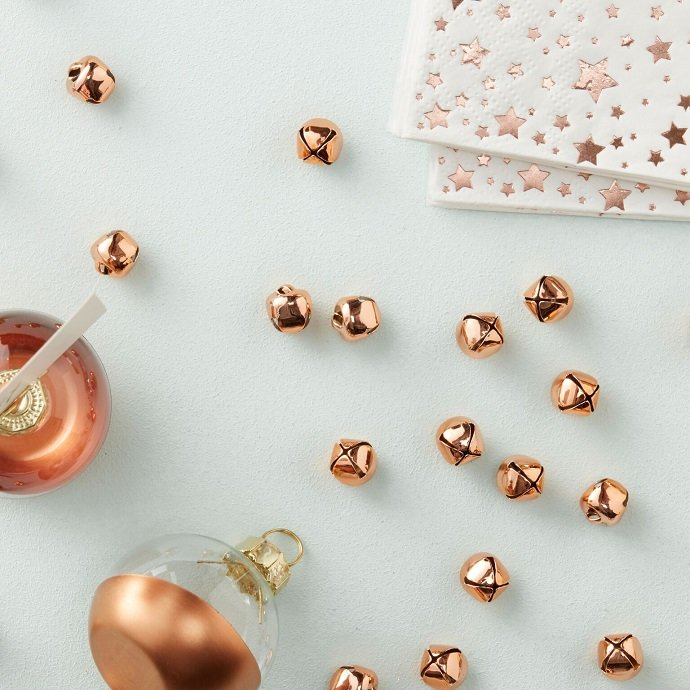 Rose Gold Mini Bell Table Confetti