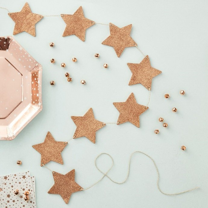 Rose Gold Star Garland