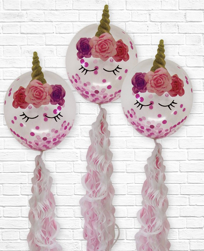 DIY Unicorn Balloon Party Craft