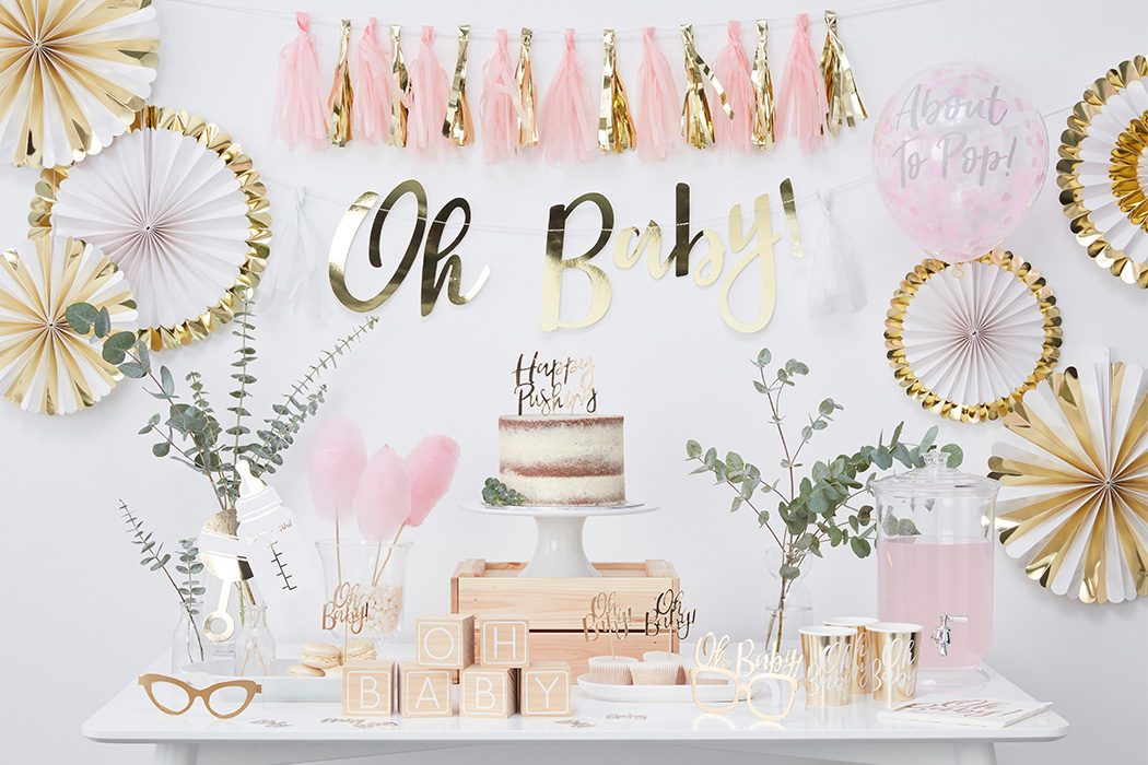 Baby Shower Ideas In Pink And Gold pink & gold baby shower ideas | party delights blog