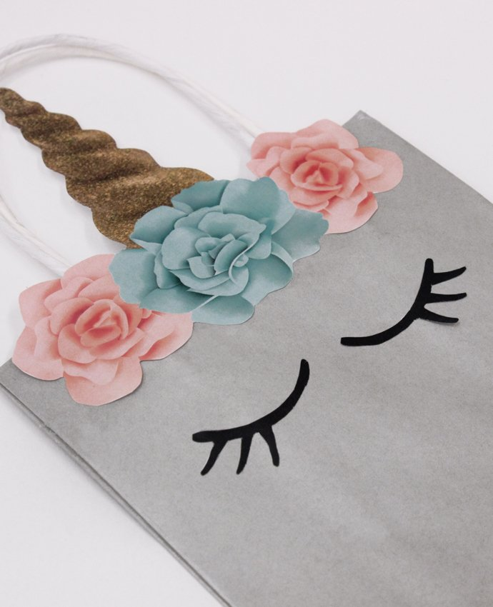 Silver Unicorn Party Bag