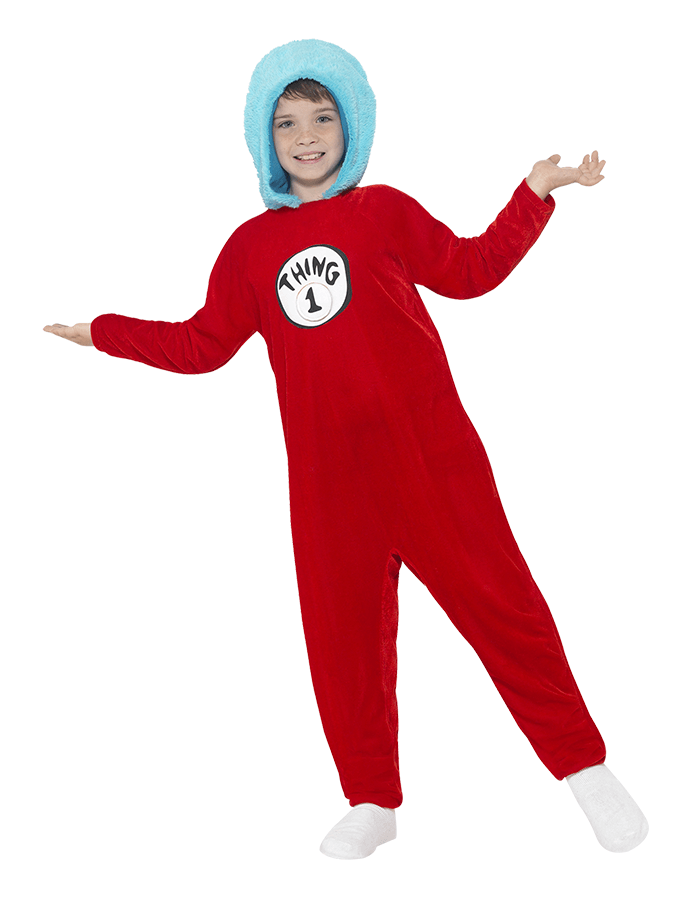 Cat in the Hat Thing 1 fancy dress costume