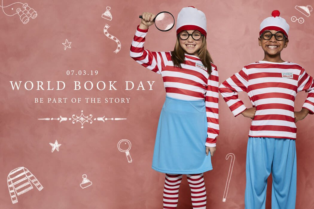 Where's Wally and Wenda fancy dress costumes