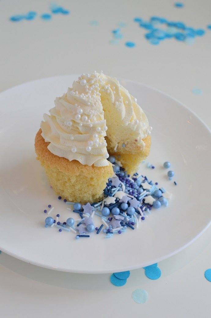 Blue Gender Reveal Pinata Cupcake