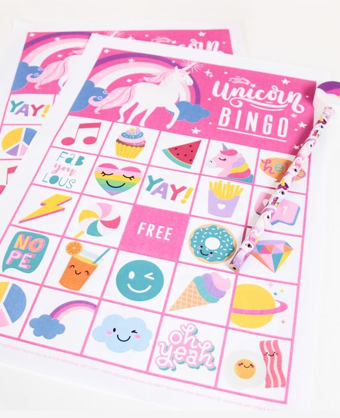 Free Printable Unicorn Bingo Cards