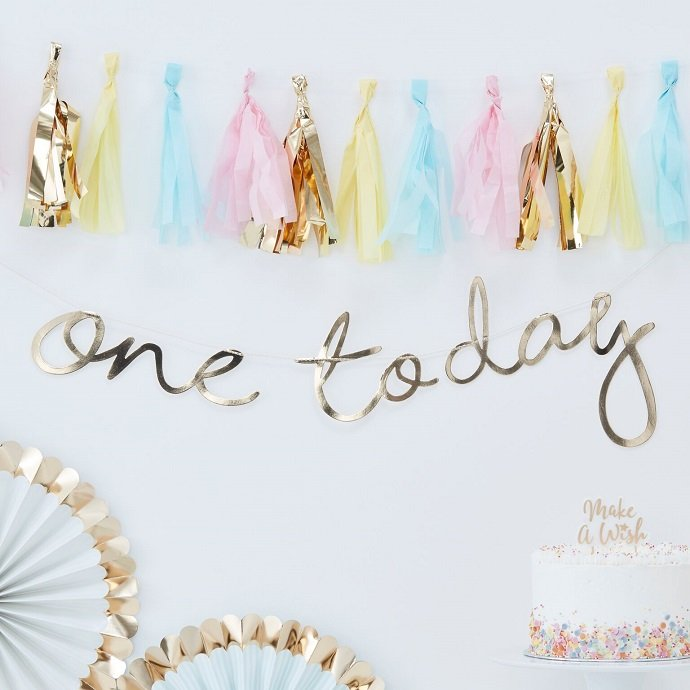One Today Letter Bunting