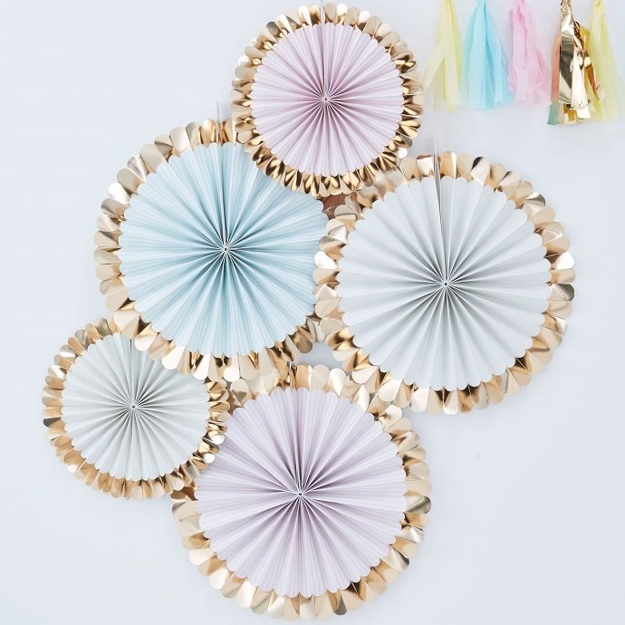 Pastel Fan Decorations