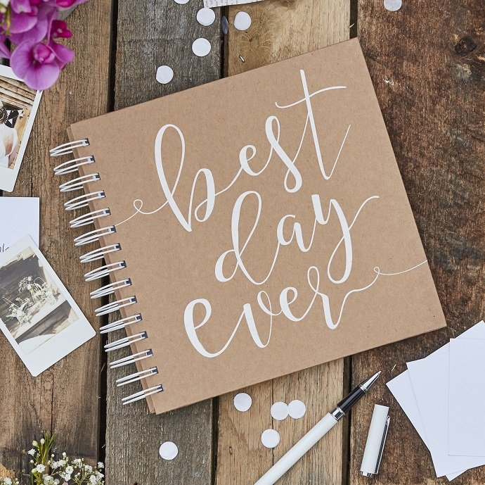 Best Day Ever Rustic Wedding Guestbook