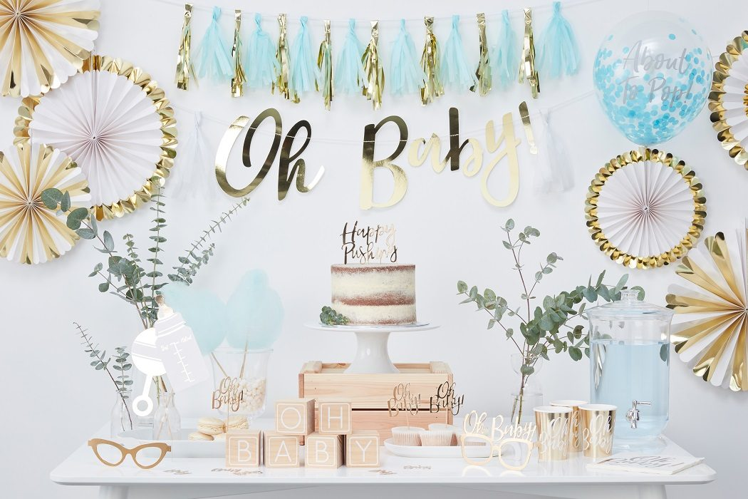Blue and Gold Baby Shower Ideas
