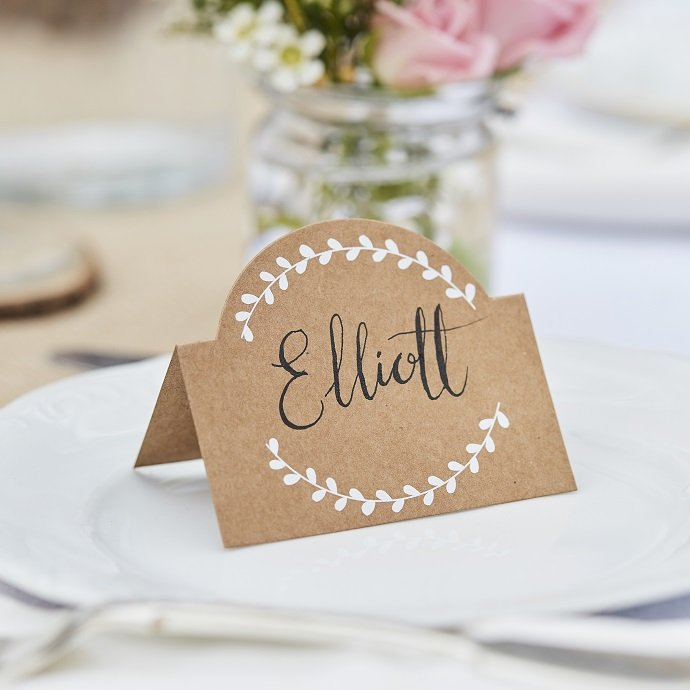 Kraft Vine Place Cards