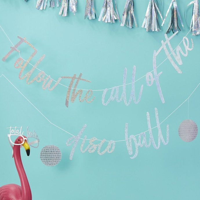 Follow the Call of the Disco Ball Bunting