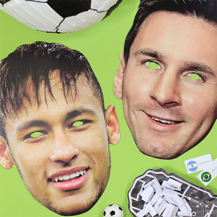 World Cup player masks