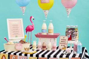 Make your own milkshake bar
