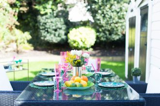 A tropical garden party theme for summer