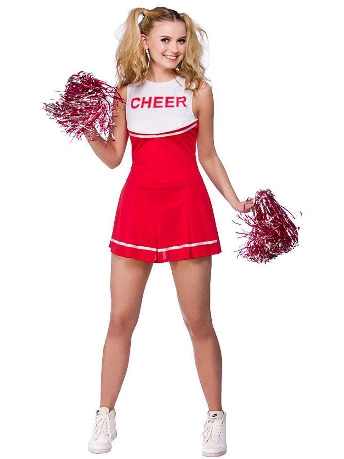 Cheerleader fancy dress costume