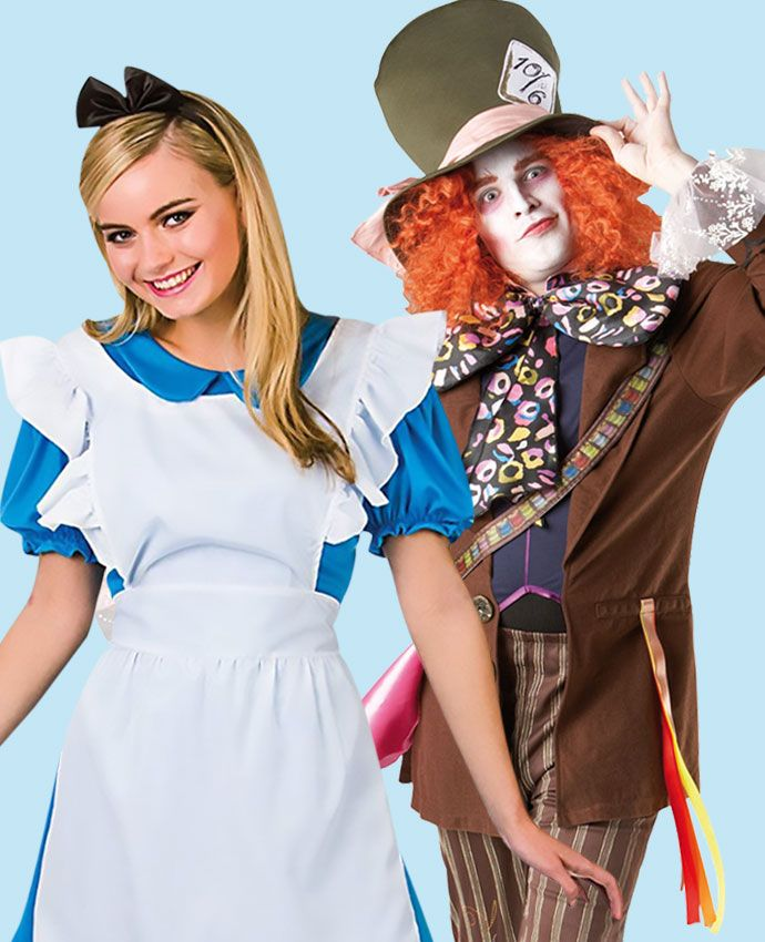 Alice in Wonderland & Mad Hatter fancy dress costume idea for couples