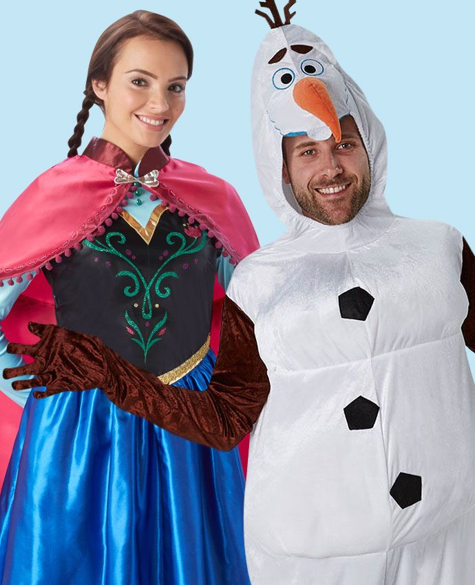 Anna & Olaf Frozen fancy dress costume idea for couples