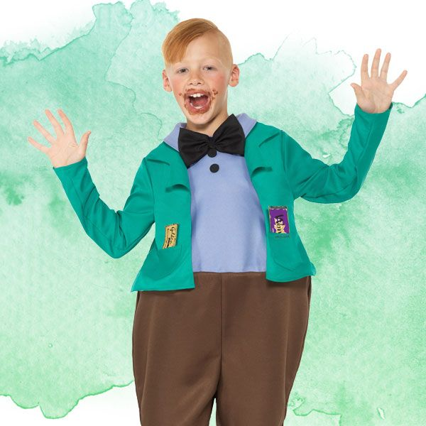 Augustus Gloop kids' costume from Charlie and the Chocolate Factory - Roald Dahl fancy dress