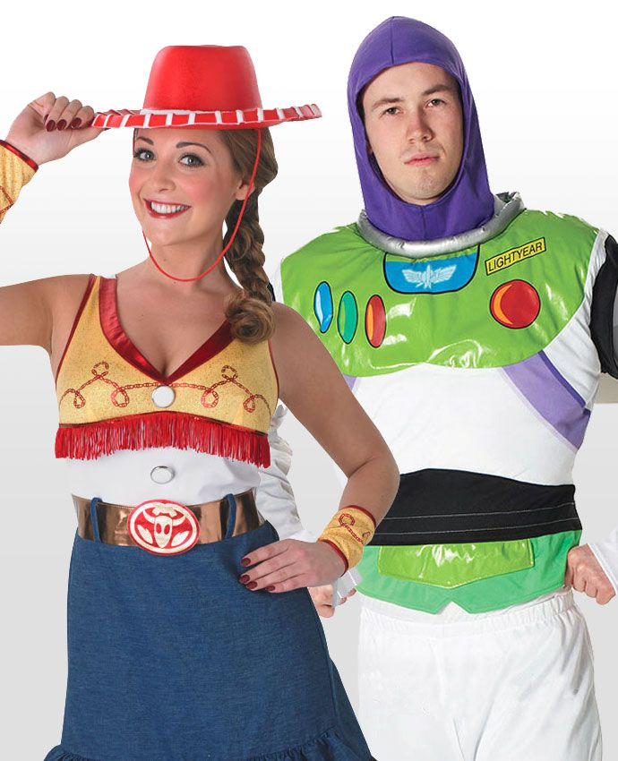Jessie & Buzz Lightyear Toy Story fancy dress costume idea for couples
