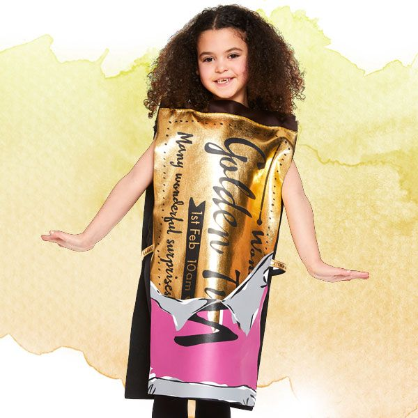 Golden Ticket kids' costume from Charlie and the Chocolate Factory - Roald Dahl fancy dress